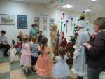 Маленькие гости рассказывают стихи Деду Морозу